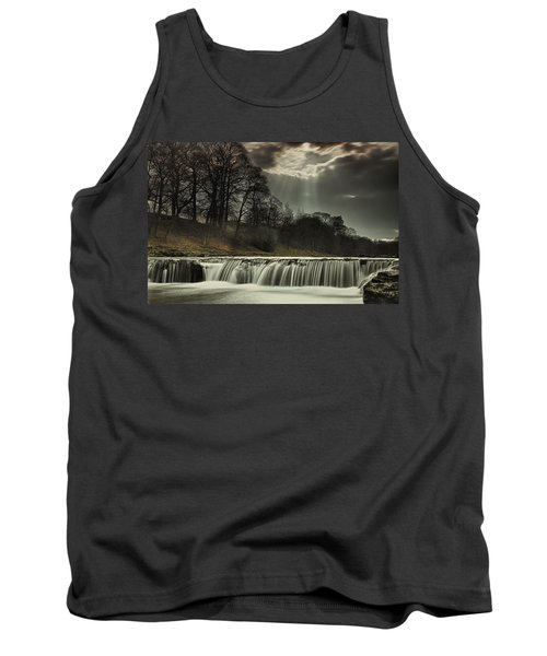 Aysgarth Falls Yorkshire England Tank Top by John Short