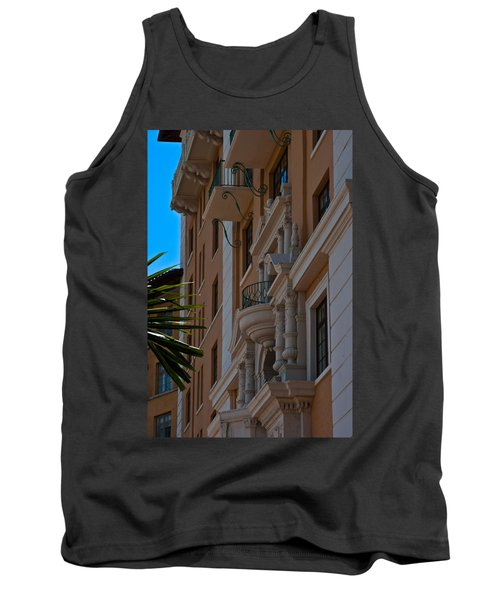 Tank Top featuring the photograph Balcony At The Biltmore Hotel by Ed Gleichman