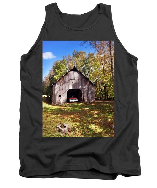 Tank Top featuring the photograph Barn An Chevy by Janice Spivey