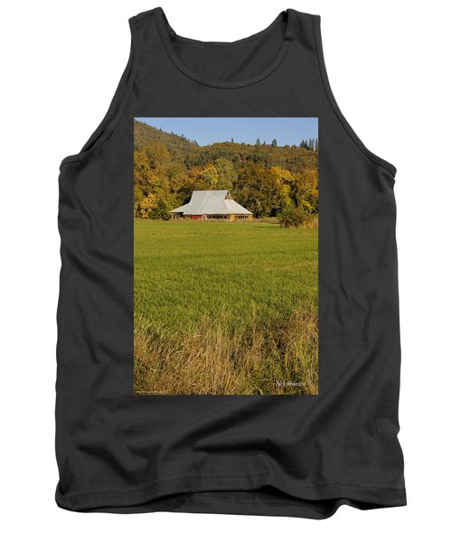 Tank Top featuring the photograph Barn Near Murphy by Mick Anderson