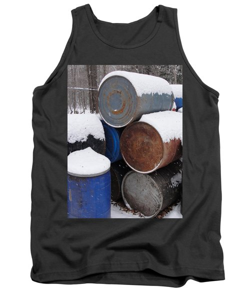 Tank Top featuring the photograph Barrel Of Food by Tiffany Erdman