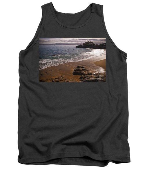 Beach At Monteray Bay Tank Top by Darcy Michaelchuk