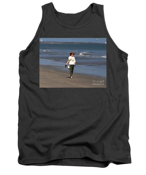 Tank Top featuring the photograph Beach Walker by John Black