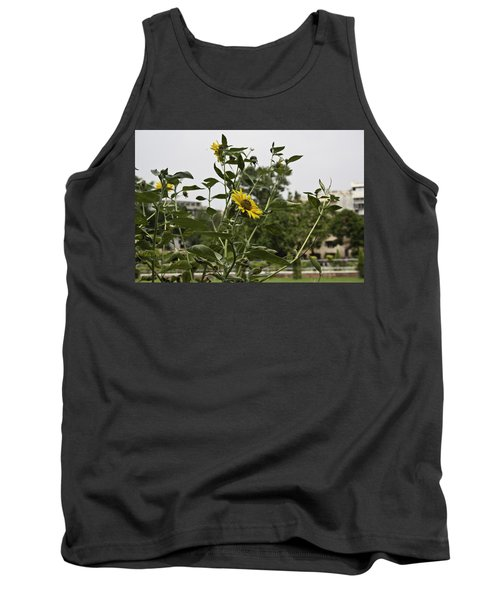 Tank Top featuring the photograph Beautiful Yellow Flower In A Garden by Ashish Agarwal