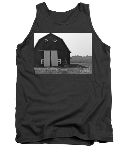 Big Tooth Barn Black And White Tank Top