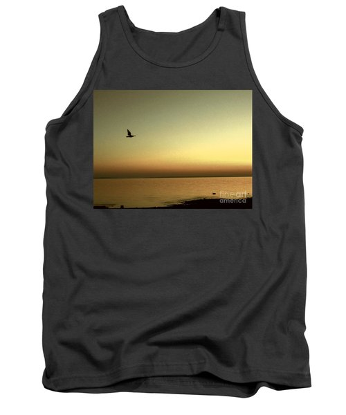 Bird At Sunrise - Sepia Tank Top by Desiree Paquette