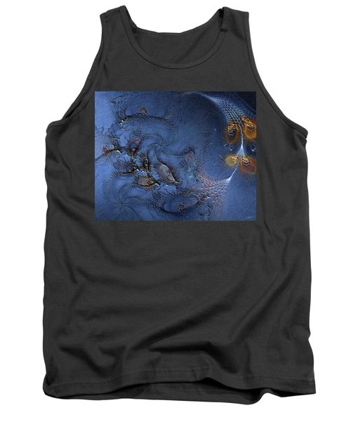 Tank Top featuring the digital art Birth Of The Cool by Casey Kotas