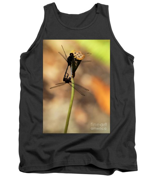 Black Dragonfly Love Tank Top