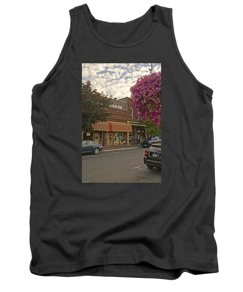 Blind Georges And Laughing Clam On G Street In Grants Pass Tank Top by Mick Anderson