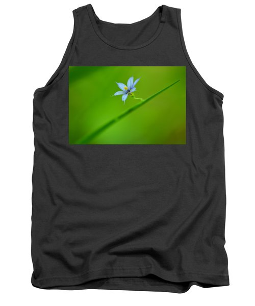 Tank Top featuring the photograph Blue-eyed Grass by JD Grimes
