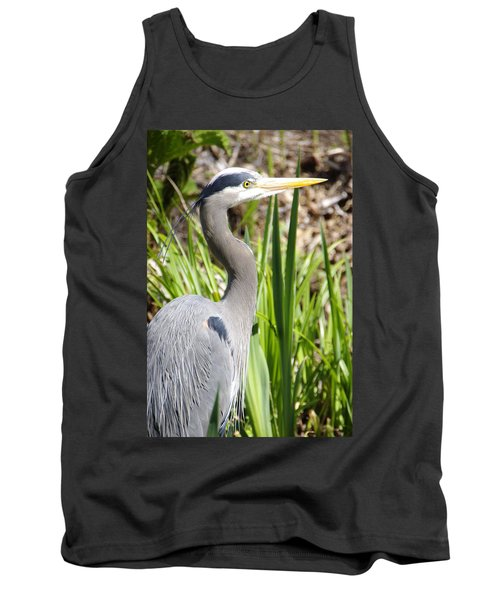 Tank Top featuring the photograph Blue Heron by Marilyn Wilson
