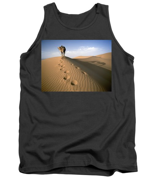 Blue Man Tribe Of Saharan Traders With Tank Top