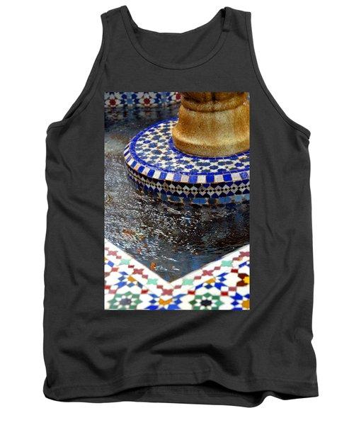 Blue Mosaic Fountain II Tank Top