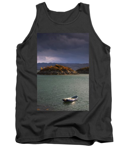 Boat On Loch Sunart, Scotland Tank Top by John Short