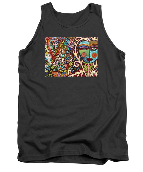 -bone Tree Of Life Skeleton Goddess Tank Top