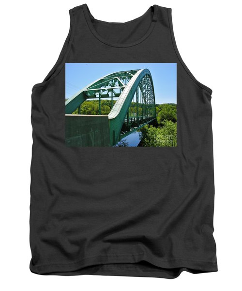 Tank Top featuring the photograph Bridge Spanning Connecticut River by Sherman Perry