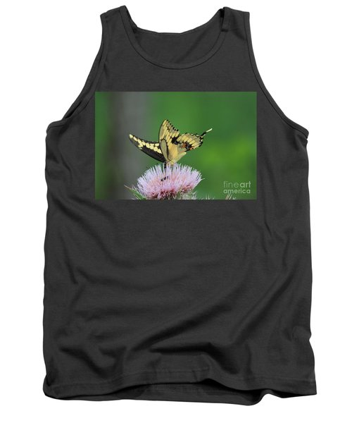 Tank Top featuring the photograph Butterflies Are Free by Kathy  White