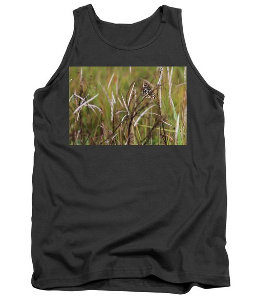 Tank Top featuring the photograph Butterfly In Flight by Fotosas Photography