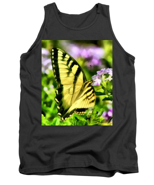 Tank Top featuring the painting Butterfly by Lynne Jenkins