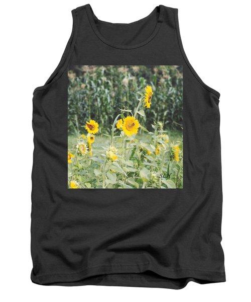 Butterfly On Sunflower Tank Top