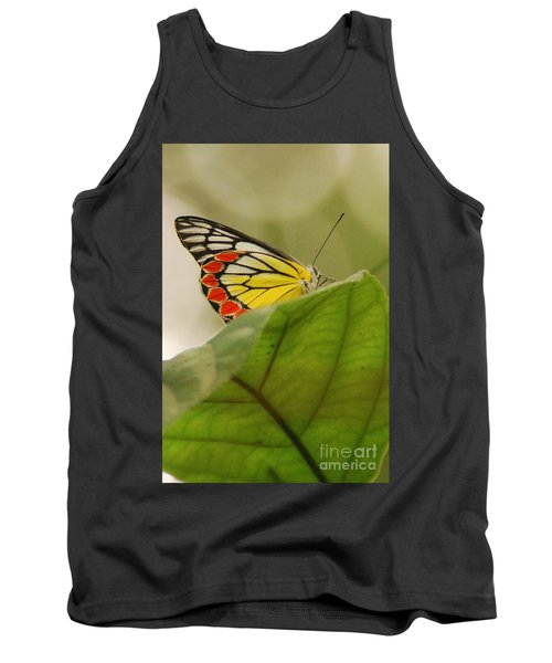 Tank Top featuring the photograph Butterfly Resting by Fotosas Photography