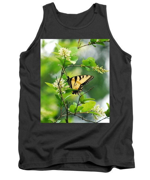 Tank Top featuring the photograph Butterfly Tiger Swallow by Peggy Franz