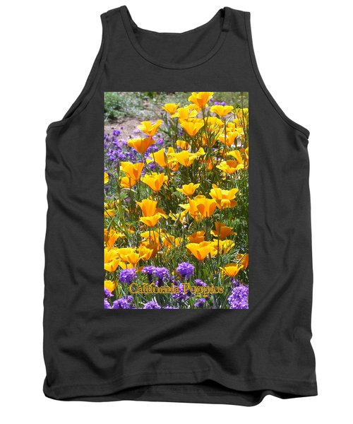 Tank Top featuring the photograph California Poppies by Carla Parris
