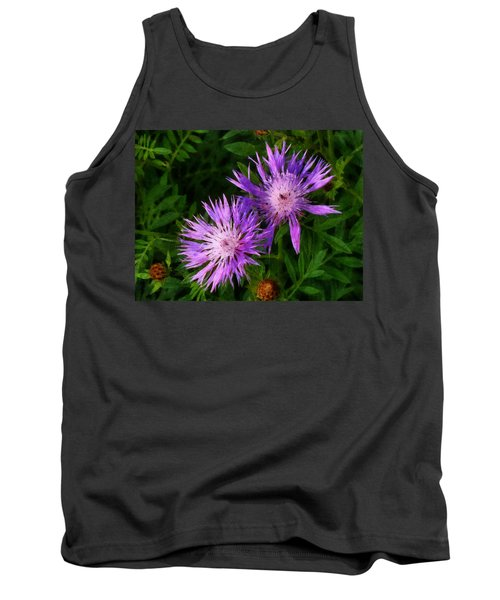 Tank Top featuring the photograph Can Flowers Say Boo by Steve Taylor
