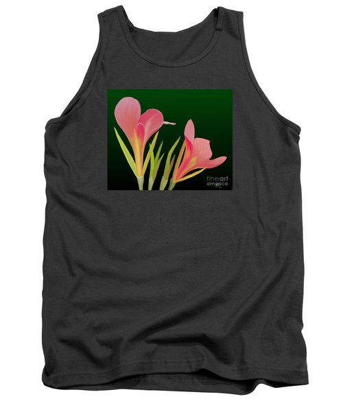 Canna Lilly Whimsy Tank Top by Rand Herron
