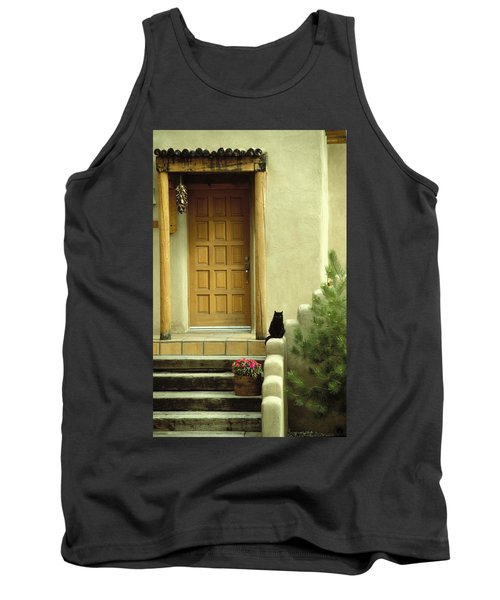 Cat Post Tank Top by Brent L Ander