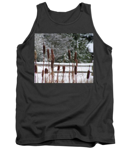 Cattails In Winter Tank Top