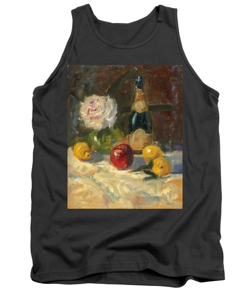 Tank Top featuring the painting Champagne And Roses by Marlyn Boyd