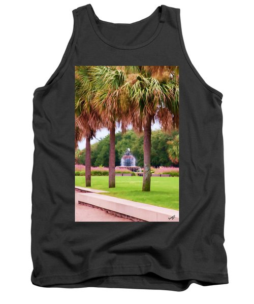 Charleston Pineapple Fountain Tank Top