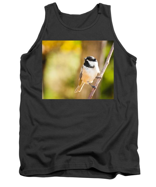Tank Top featuring the photograph Chickadee by Cheryl Baxter