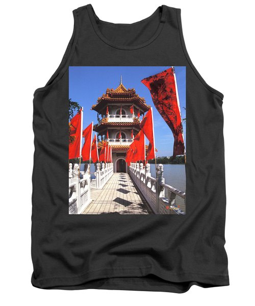 Tank Top featuring the photograph Chinese Gardens  North Pagoda 19c by Gerry Gantt