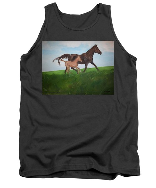 Tank Top featuring the painting Chloe's Dream by George Pedro