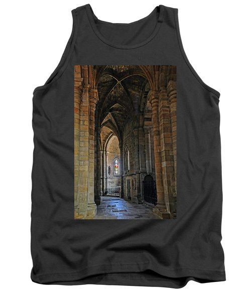 Tank Top featuring the photograph Church Passageway Provence France by Dave Mills