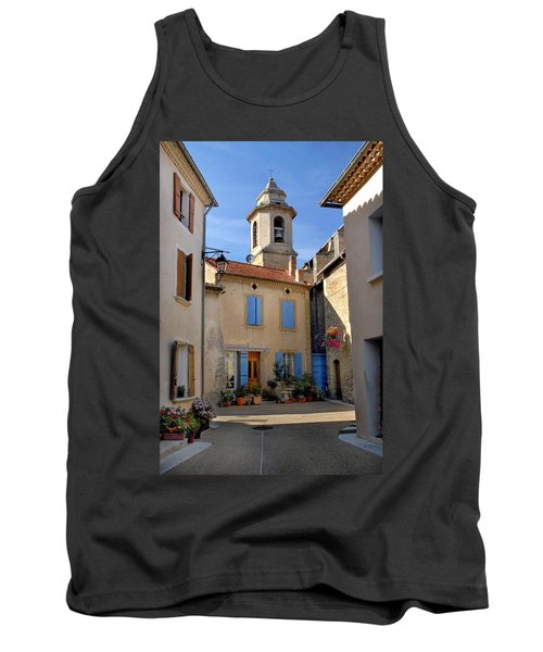 Tank Top featuring the photograph Church Steeple In Provence by Dave Mills