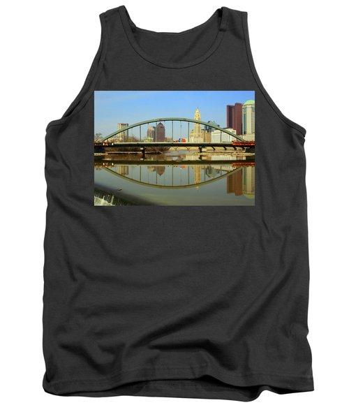 City Reflections Through A Bridge Tank Top