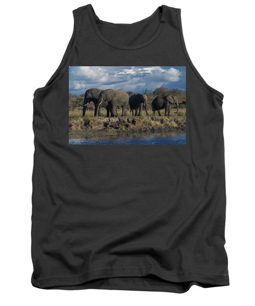 Clouds And Elephants Tank Top