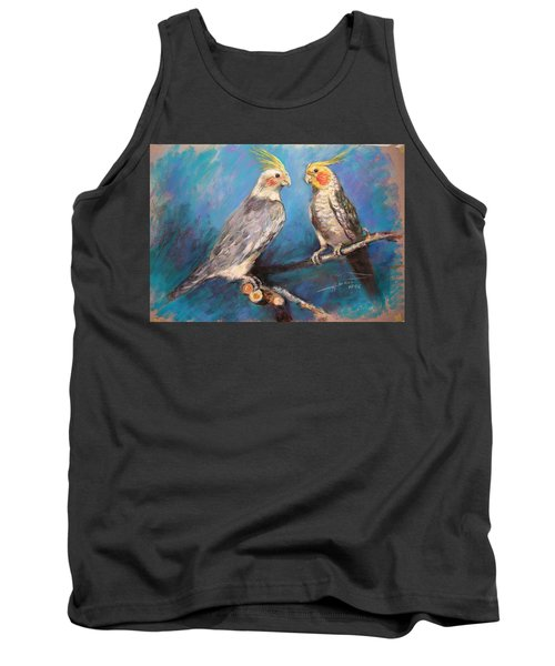 Coctaiel Parrots Tank Top by Ylli Haruni