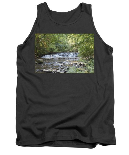 Tank Top featuring the photograph Corbetts Glen Waterfall by William Norton