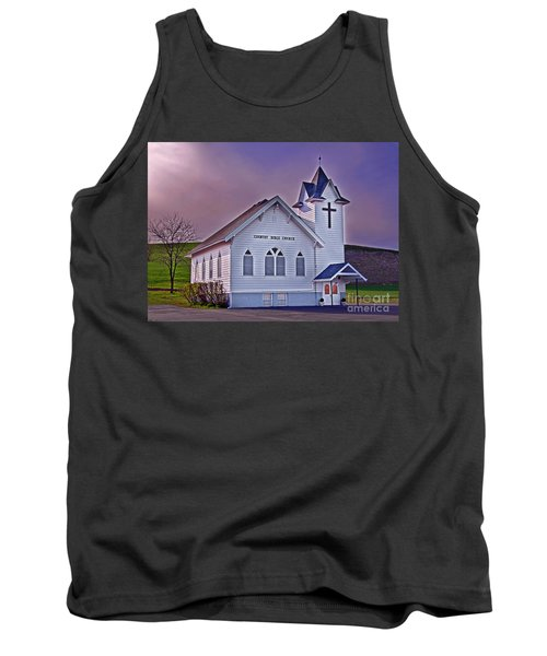 Country Church At Sunset Art Prints Tank Top by Valerie Garner