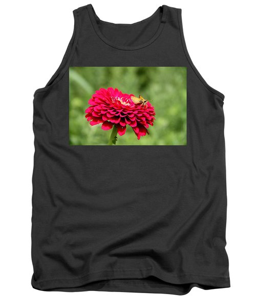 Tank Top featuring the photograph Dahlia's Moth by Elizabeth Winter