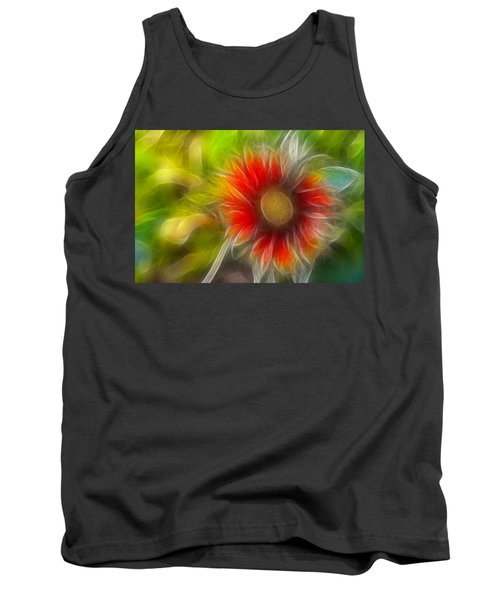 Tank Top featuring the photograph Dalia Pseudo Fractal by Lynne Jenkins