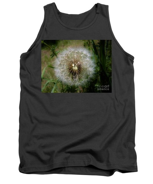 Tank Top featuring the photograph Dandelion Going To Seed by Sherman Perry