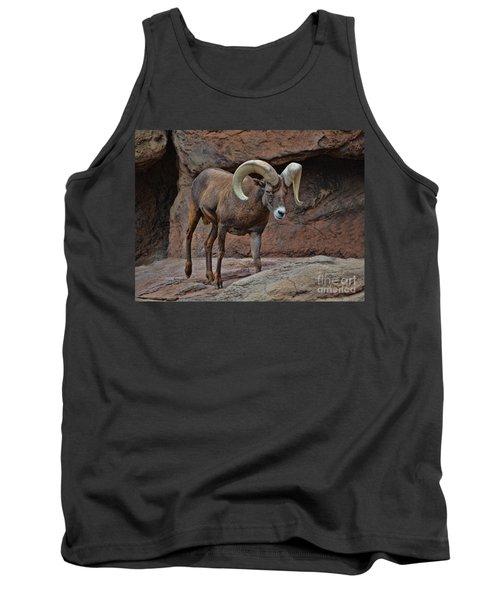 Desert Bighorn Sheep Ram I Tank Top