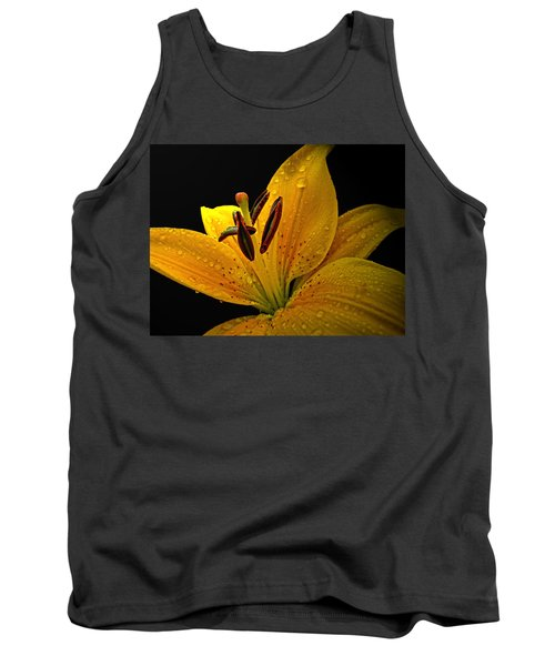 Tank Top featuring the photograph Dew On The Daylily by Debbie Portwood