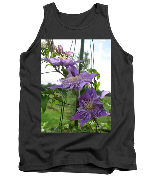 Double Clematis Named Crystal Fountain Tank Top by J McCombie