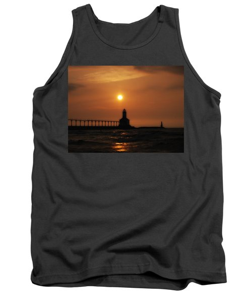 Dreamy Sunset At The Lighthouse Tank Top